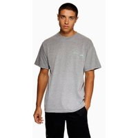 Mens Metallic Grey 'Explicit' T-Shirt, Metallic