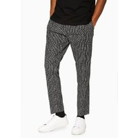 Mens Black And White Jacquard Print Joggers, Black