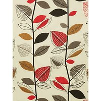 John Lewis & Partners Autumn Leaves Furnishing Fabric, Fresh Red