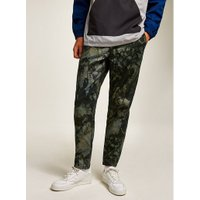 Mens Khaki Camouflage Tapered Trousers, Khaki