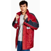 Mens Red Reflective Tape Jacket, Red