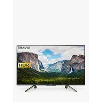 Sony Bravia KDL50WF663 LED HDR Full HD 1080p Smart TV, 50 with Freeview Play & Cable Management, Bla
