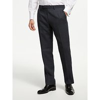 John Lewis & Partners Semi Plain Wool Suit Trousers, Petrol