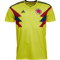 adidas Mens FCF Colombia Home Shirt Bright Yellow/Collegiate Navy