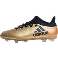 adidas Mens X 17.2 FG Football Boots Tactile Gold Metallic/Core Black/Solar Red