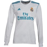 adidas Mens RMCF Real Madrid Home Jersey White/Vivid Teal