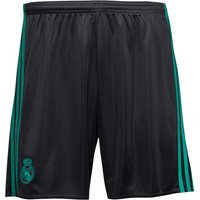 adidas Mens RMCF Real Madrid Away Shorts Black/Aero Reef