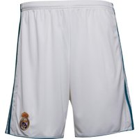 adidas Mens RMCF Real Madrid Home Shorts White/Vivid Teal