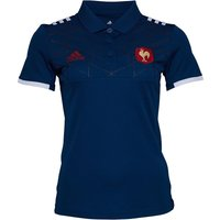 adidas Mens France 2017 FFR Presentation Rugby Polo Tech Steel/White/Power Red