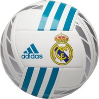adidas Mens RMCF Real Madrid Football White/Vivid Teal/Silver Metallic