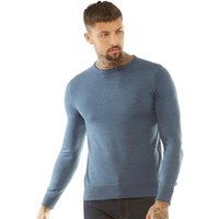 Brave Soul Mens Parsec Crew Neck Jumper Mid Blue Mix