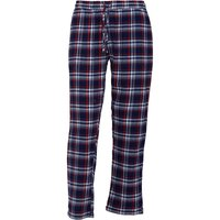 Brave Soul Mens Terrence Woven Flannel Lounge Pants Navy/Red Check