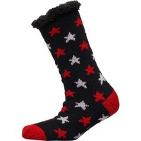 Brave Soul Womens Stars Sherpa Lined Bed Socks Black/Pink/Red/Cream