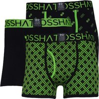 Crosshatch Mens Neonbox Three Pack Boxers Black/Green