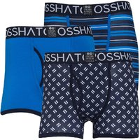 Crosshatch Mens Grillster Three Pack Boxers Blue/Navy/White