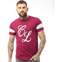 Closure London Mens Band T-Shirt Burgundy/White