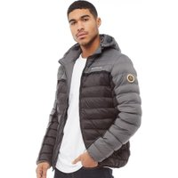 Crosshatch Mens Pyffan Padded Jacket Black/Grey