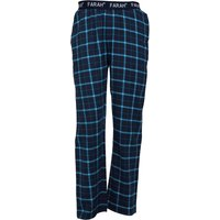 Farah Mens Hamer Flannel Lounge Pants Yale/White/Ocean
