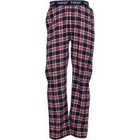 Farah Mens Romines Flannel Lounge Pants Bobby Blue/White/Red