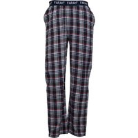 Farah Mens Jubitz Flannel Lounge Pants Yale/White/Red