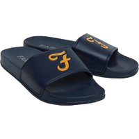 Farah Vintage Mens Sunset Slider Sandals Navy