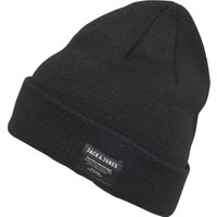 JACK AND JONES Mens DNA Beanie Black