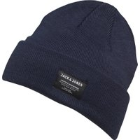 JACK AND JONES Mens DNA Beanie Navy Blazer