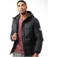 JACK AND JONES Mens Jorbeige Puffer Jacket Black