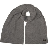 JACK AND JONES Mens DNA Knit Scarf Grey Melange
