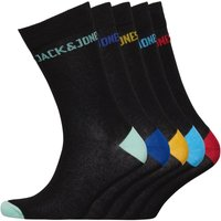 JACK AND JONES Mens Jack Five Pack Socks Black/Red/Green/Blue/Yellow