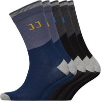 JACK AND JONES Mens Jones Five Pack Socks Black/Grey/Blue/Yellow
