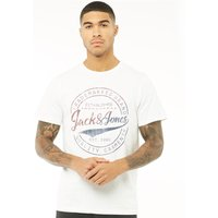 JACK AND JONES Originals Mens Art Palm T-Shirt White