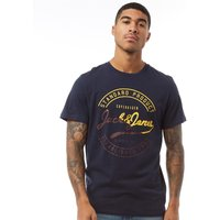 JACK AND JONES Originals Mens Art Palm T-Shirt Total Eclipse