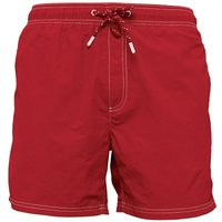 Kangaroo Poo Mens Plain Taslan Swim Shorts Red