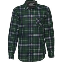 Kangaroo Poo Mens Printed Check Long Sleeve Shirt Green/Navy/White