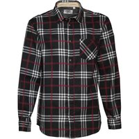 Kangaroo Poo Mens Printed Check Long Sleeve Shirt Black/Red/White