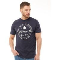 Kangaroo Poo Mens Printed T-Shirt Navy/White