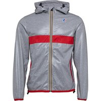 K-Way Mens Le Vrai Claude Laminated 3.0 Jacket Heather Grey/Red