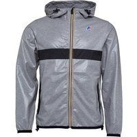K-Way Mens Le Vrai Claude Laminated 3.0 Jacket Heather Grey/Black