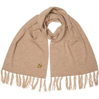 Lyle And Scott Vintage Mens Plain Lambswool Mix Scarf Camel