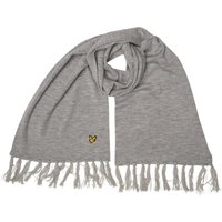 Lyle And Scott Vintage Mens Plain Lambswool Mix Scarf Mid Grey Marl