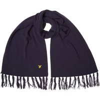 Lyle And Scott Vintage Mens Plain Lambswool Mix Scarf New Navy