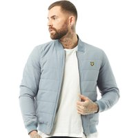 Lyle And Scott Vintage Mens Reversible Bomber Jacket Mist Blue