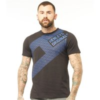 Henleys Mens Flagstone T-Shirt Black