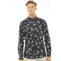 French Connection Mens Design Long Sleeve Shirt Floral