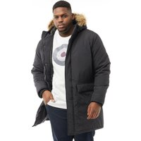 French Connection Mens Plus Size Parka Black