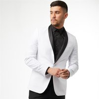 French Connection Mens Dinner Jacket White