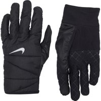 Nike Mens Quilted Run Gloves 2.0 Black/Silver