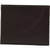 French Connection Mens Weave Wallet Brown
