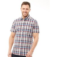 Onfire Mens Yarn Dyed Checked Short Sleeve Shirt Multi